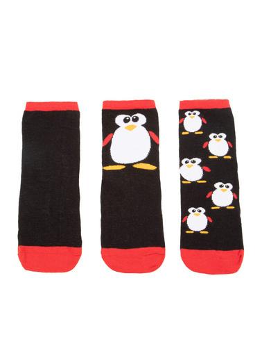 DeFacto 3'lü Penguen Desenli Çorap Renkli